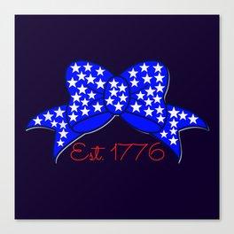 Est 1776 Bow Canvas Print