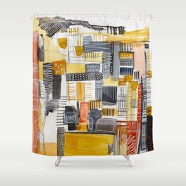 Autumn Rituals Abstract Painting Shower Curtain