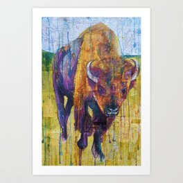 Buffalo in Purple Art Print