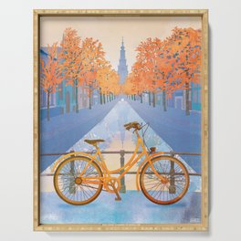 Netherlands, Amsterdam Travel Poster Serving Tray