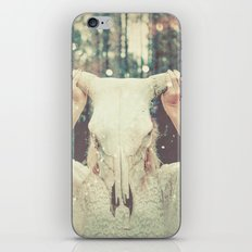Bull Skull Tribal Woman iPhone & iPod Skin