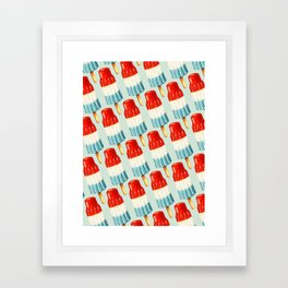 USA 4th of July Popsicle Pattern Framed Art Print
