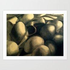 Charcoal Eggs Art Print