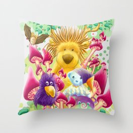 Moka, the magic lion Throw Pillow