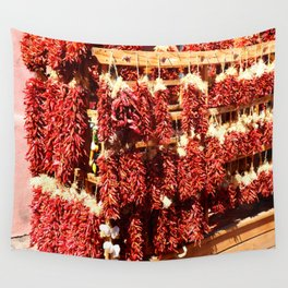 Red Chili Ristra And Gralic Wall Tapestry