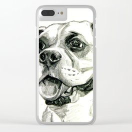 Smiling Boxer Boy Oscar Clear iPhone Case
