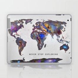 """Star map. Never stop exploring...II"". World map. Laptop & iPad Skin"