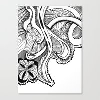 zentangle Canvas Prints featuring zentangle by Pinkspoisons
