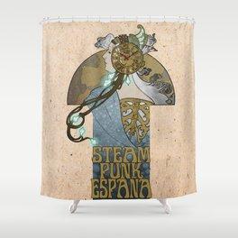 Steampunk Spain Shower Curtain