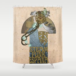 Steampunk Spain Shower Curtain