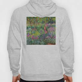 Claude Monet - The Iris Garden At Giverny Hoody
