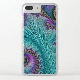 Aqua Fronds Clear iPhone Case