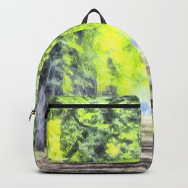 Forest Path Watercolour Backpack