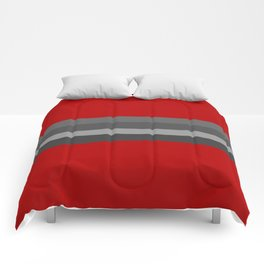 Abstract Grey Lines Comforters