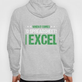 Bookkeeper Accountant Tax Analyst I Excel Accountancy Bookkeeping Puns Gift Hoody