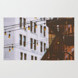New York City Buildings and Lights (Color) Rug