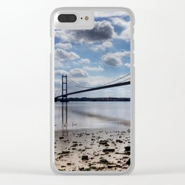 Swans at Humber Bridge Clear iPhone Case