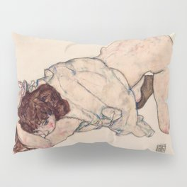 "Egon Schiele ""Kneeling Girl, Resting on Both Elbows"" Pillow Sham"