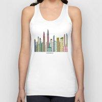 san diego Tank Tops featuring San Diego skyline  by bri.buckley