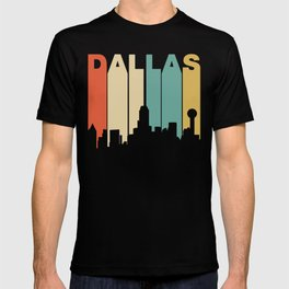 Retro 1970's Style Dallas Texas Skyline T-shirt