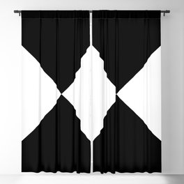 WHITE AND BLACK Blackout Curtain