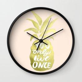 PINEAPPLE I Wall Clock