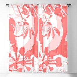 BC coral silhouette Blackout Curtain