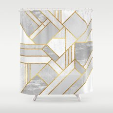 Gold City Shower Curtain