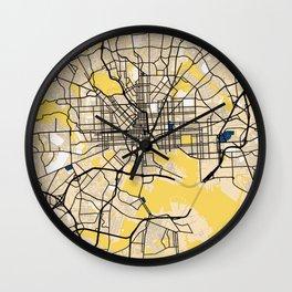 Baltimore Yellow City Map Wall Clock