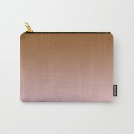 Chocolate Brown to Pink Lace Linear Gradient Carry-All Pouch