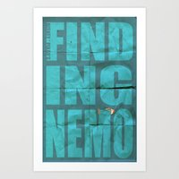 finding nemo Art Prints featuring Finding Nemo by Garrett McDonald