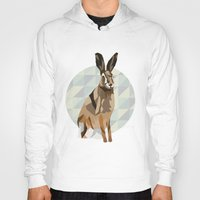 hare Hoodies featuring Hare by Giulia Zerbini