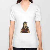 aang V-neck T-shirts featuring Wang Fire by light-in-sky