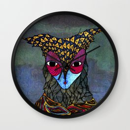 Owl-Girl Wall Clock