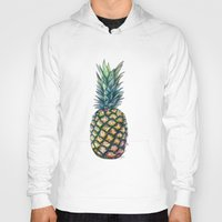 pineapple Hoodies featuring Pineapple by Michaela Ramstedt