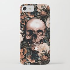 SKULL AND FLOWERS II iPhone 7 Slim Case