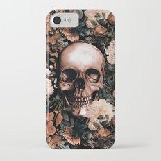 SKULL AND FLOWERS II Slim Case iPhone 7
