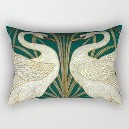 Walter Crane's Swan, Rush, Iris Rectangular Pillow