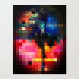 Colorful Tropical Collage Mosaic Canvas Print