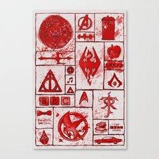 Fandoms that Kill Canvas Print