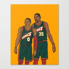 Westbrook and Durant - Retro Jersey Canvas Print
