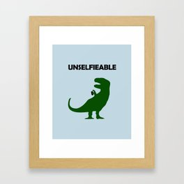 Unselfieable T-Rex Framed Art Print