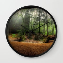 Ash Cave At Hocking Hills State Park Logan Ohio Ultra HD Wall Clock