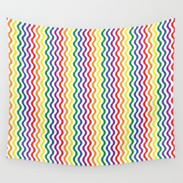 Rainbow Waves Wall Tapestry