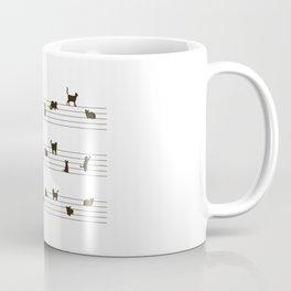 Cute Conceptual Cat Song Music Notation Coffee Mug