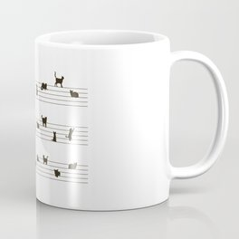 Cute Conceptual Cat Song Music Notation Coffee Mug