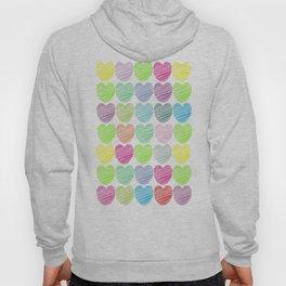 neon hearts  Hoody
