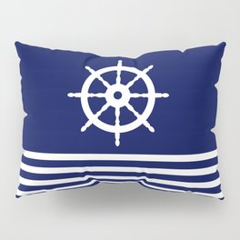 AFE Navy & White Helm Wheel Pillow Sham