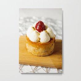Mini raspberry, rosewater and pistachio cake Metal Print