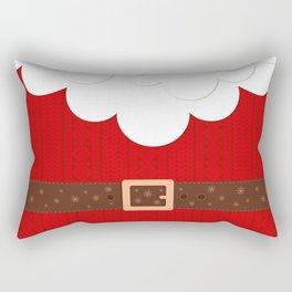 Santa Knitted Sweater (Red) Rectangular Pillow